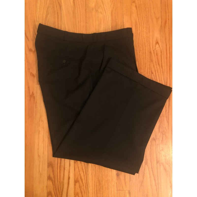 Black Wool Pants - Waist 42