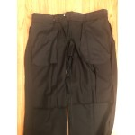 Black Wool Pants - Waist 42