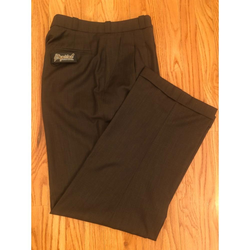 Dark Brown Wool Pants - Waist 34