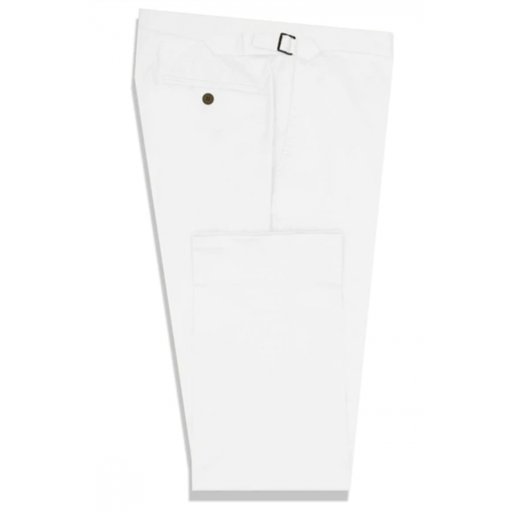 The Elliot White Cotton Stretch Chino
