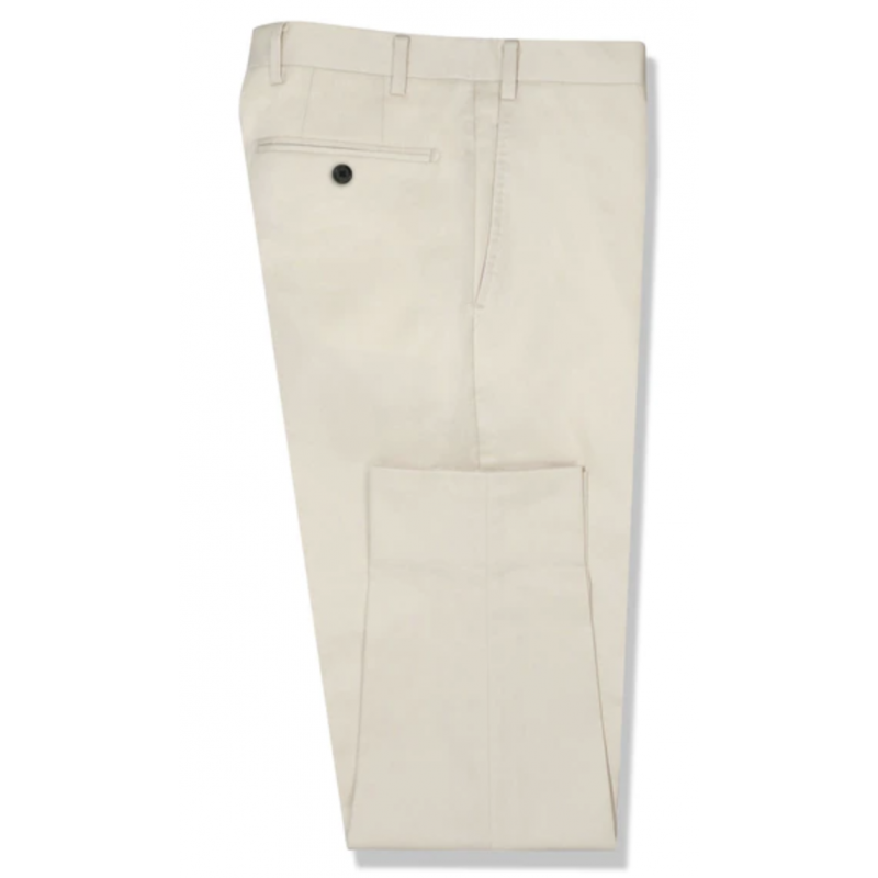 The Youngfellow Beige Cotton Stretch Chino