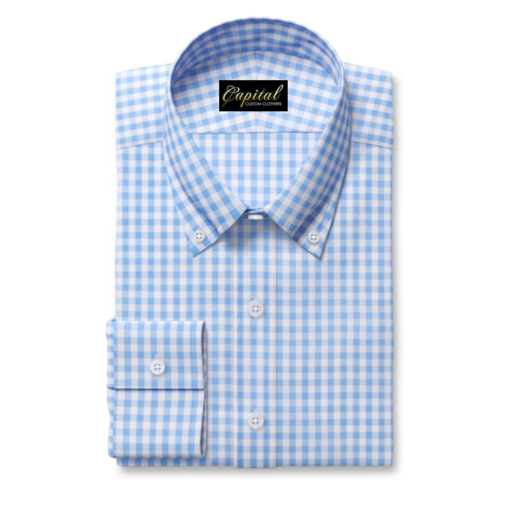 Lt Blue Medium Gingham