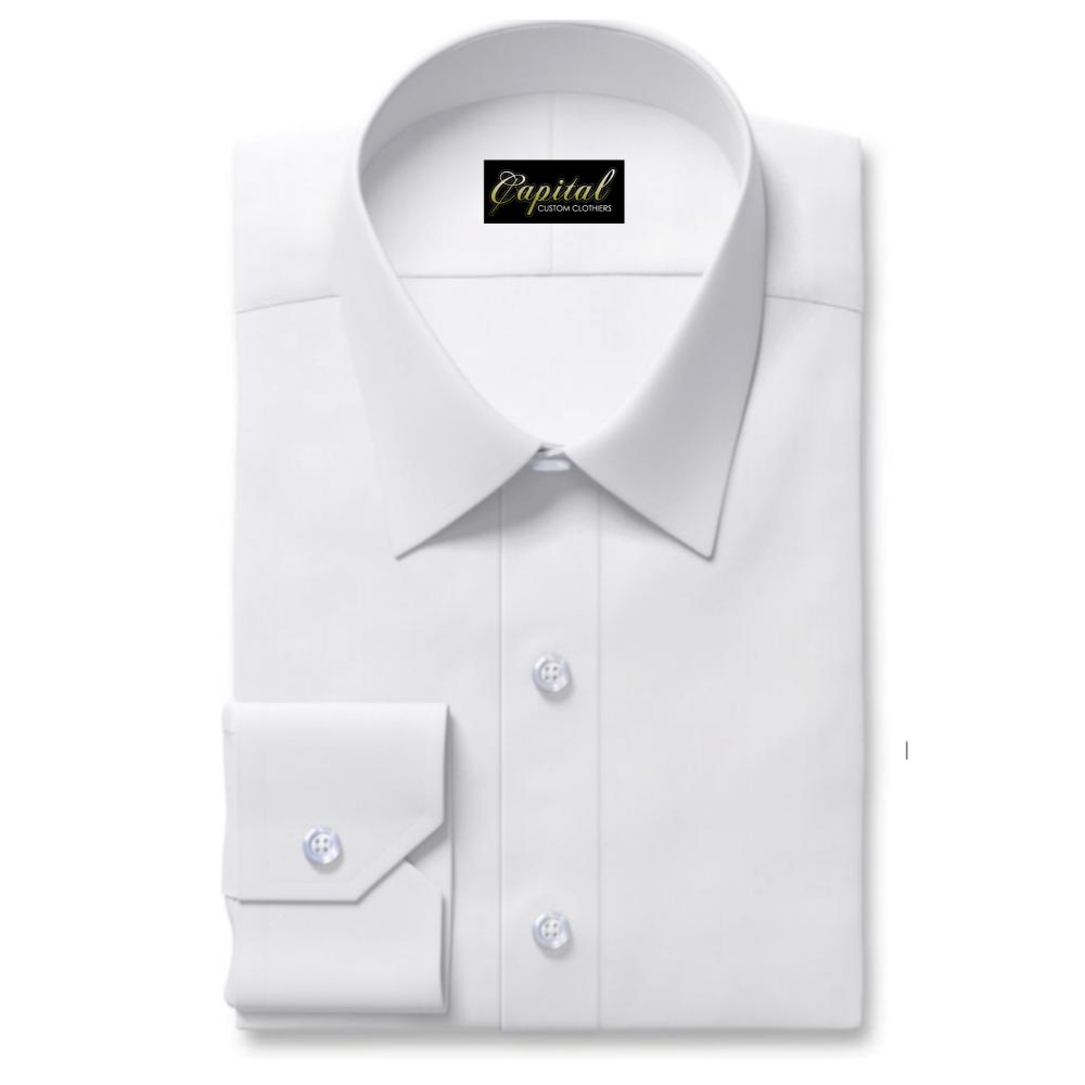 Easy-Ironing White Jacquard